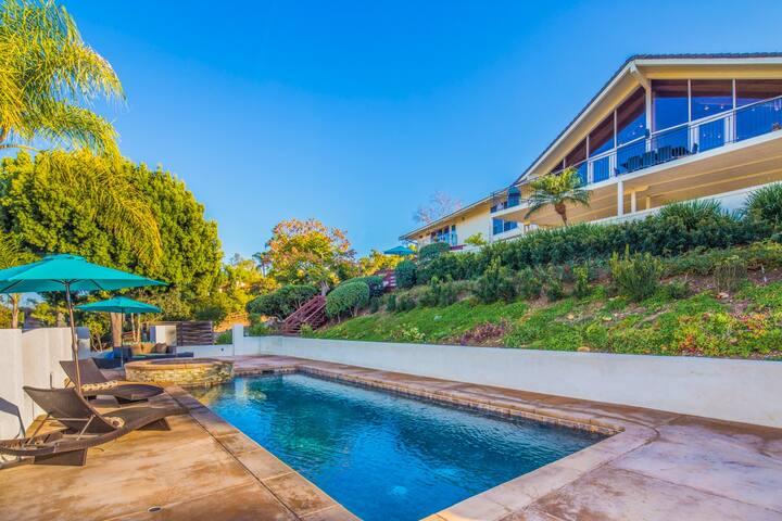 Rancho Santa Fe Villa San Diego! Sleeps 16 2acres