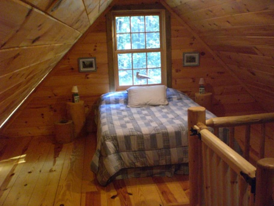 Loft area offers Queen bed
