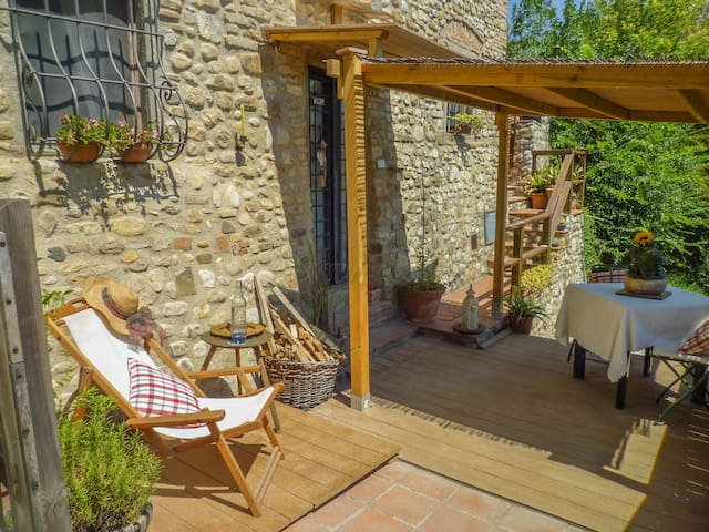 A terrace overlooking the Chianti - Montespertoli - Apartemen