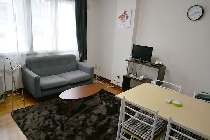 60㎡ 3bedroom family type apartment w/freeparking - Hakodate-shi - Byt