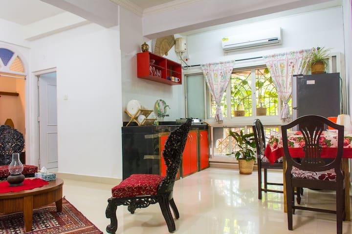 1BR apartment in lush green complex
