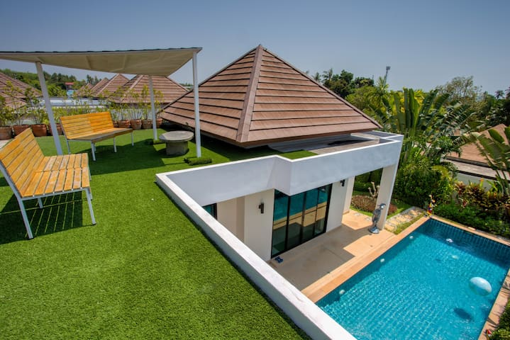 Private Pool Villa, Stylish Design☀️Roof Terrace☀️