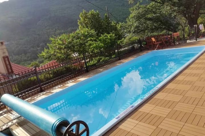 Villa with 3 bedrooms in Mošćenička Draga, with private pool and WiFi