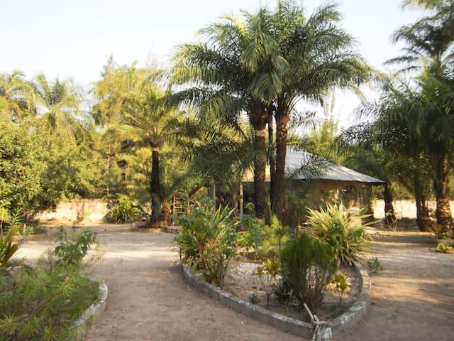 im grossen gepflegten Garten