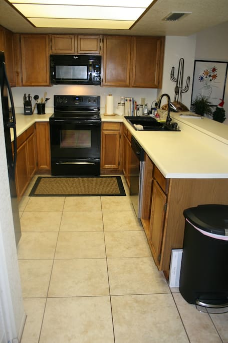 Kitchen with all new appliances.