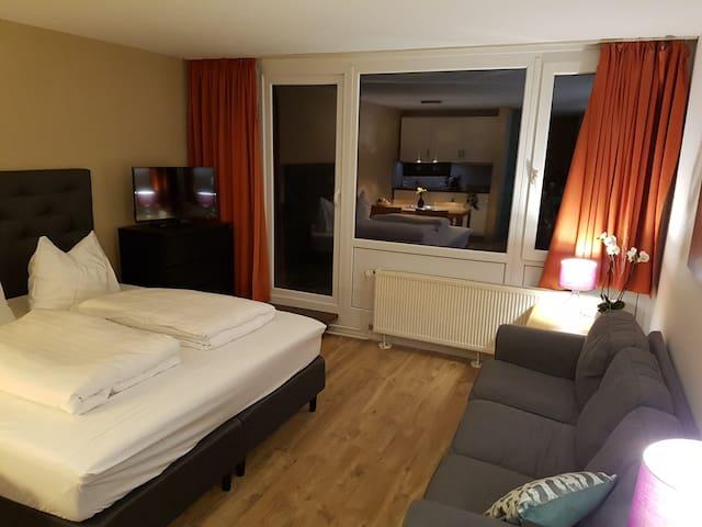 Wohn/Schlafzimmer mit Sofa