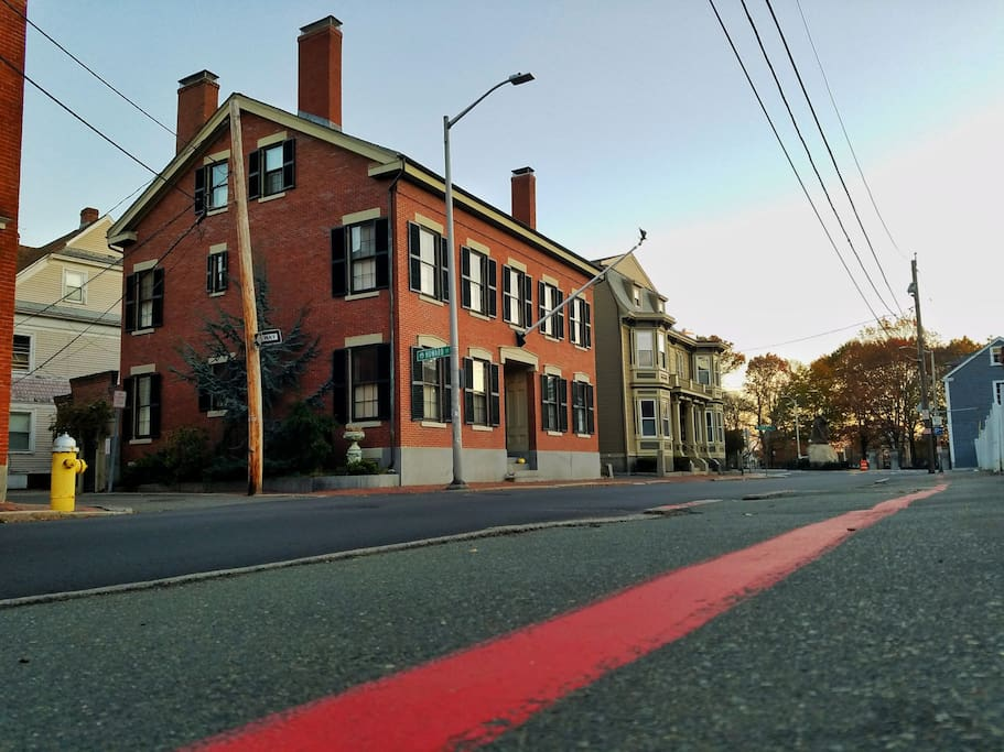 We're located directly on Salem's historic red line.