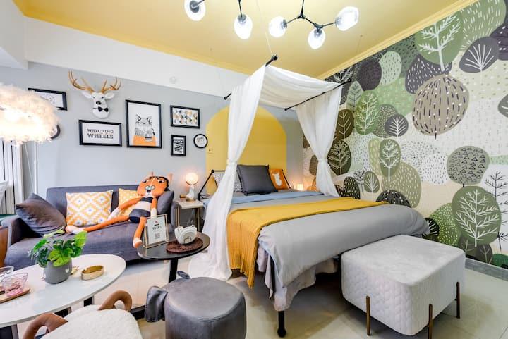 『绿野仙踪』HD巨幕投影 智能小屋  市中心 交通便利 个性一居室