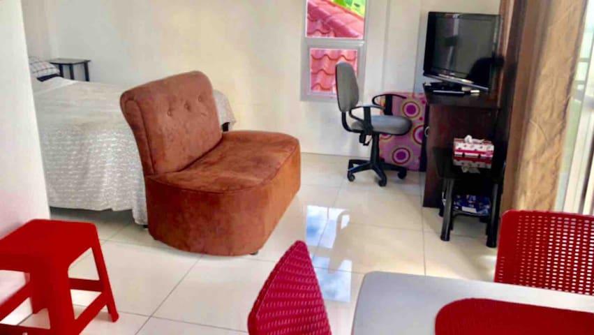 Living area/bedroom.