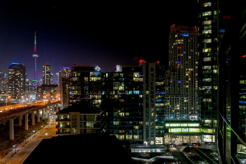 Panoramic view of the downtown core right from the studio