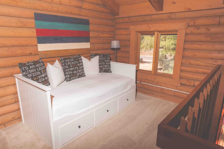 Loft with trundle bed.  Open loft.