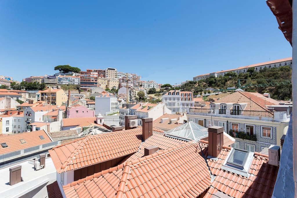 You can see the highest viewpoint in Lisbon - Miradouro da Senhora do Monte