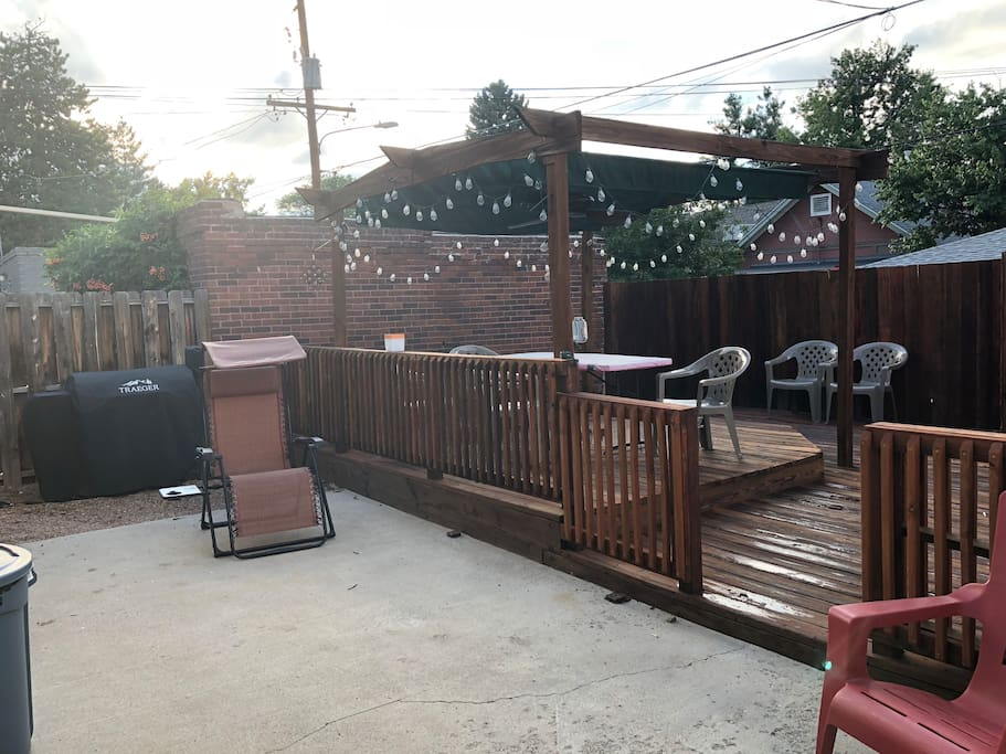 Backyard Patio, Deck, and Grill