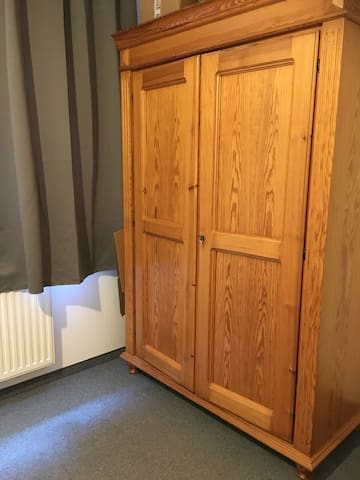 You can use this wardrobe for your stuff.