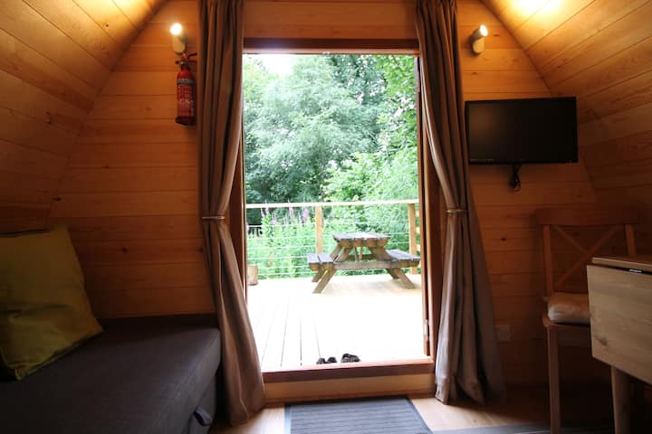 Megapod, rural glamping in mid Cornwall