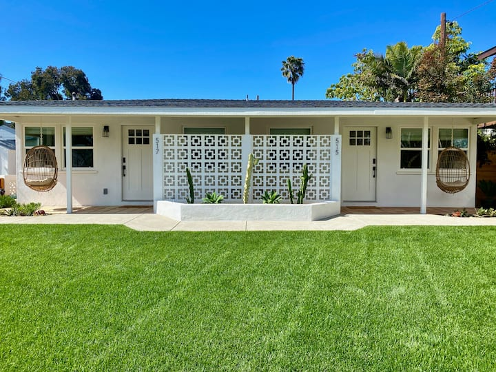 Hip Oceanside 'North Jetty Bungalow' with Hot Tub