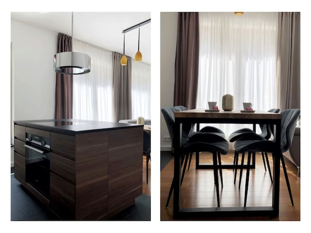 kitchen and dining table for 4 persons