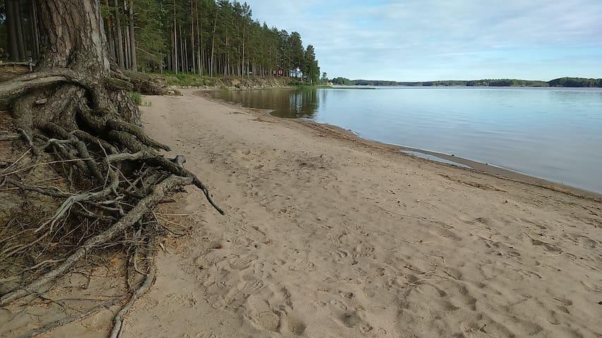 Stuga, 75 meter till stranden.