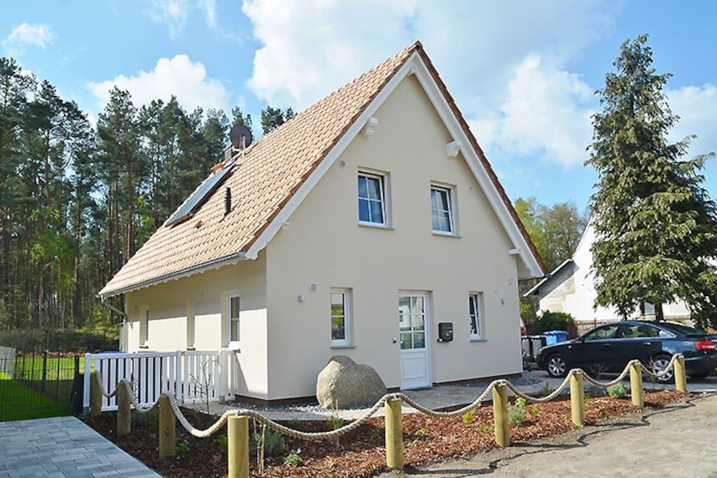 Hausansicht Ferienhaus Breitenstein