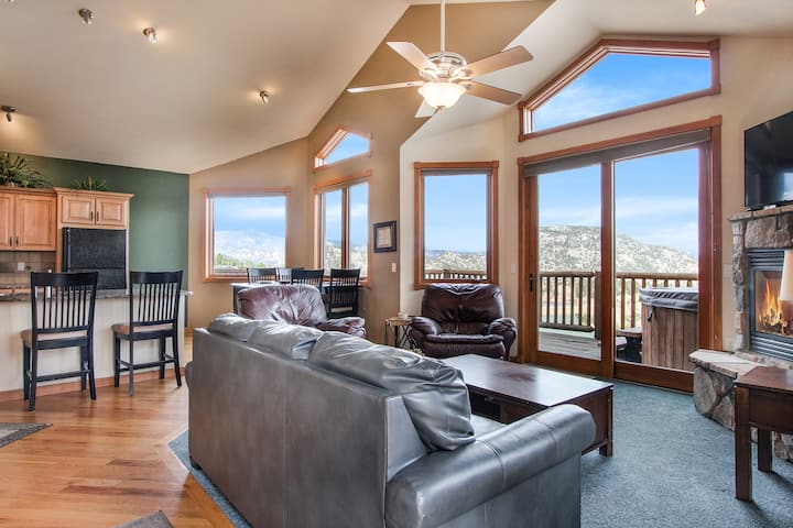 Meadow Mountain 27A -2 Br condo with private hot tub, Marys Lake and mountain views!