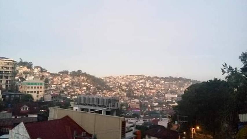 Panoramic view of Baguio City