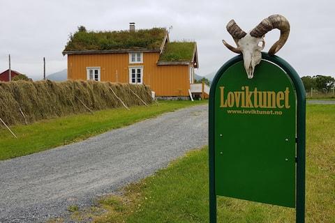 The Yellow house,Loviktunet, Andøy, Vesterålen