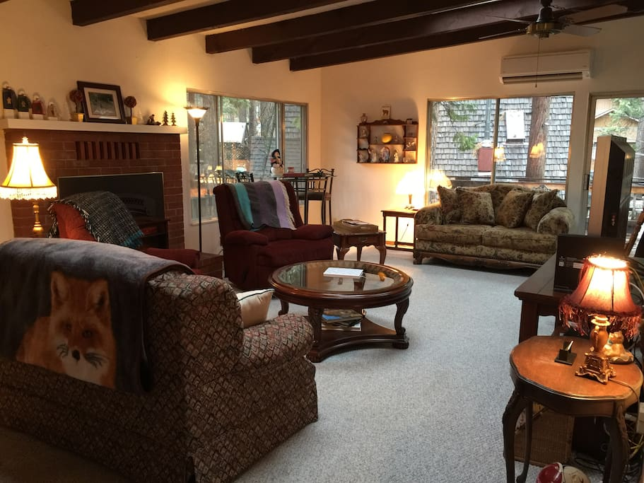 Front Room for entertaining, relaxing, watching TV, playing games, and just being!