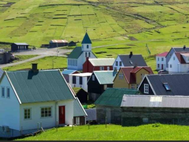 Cottage in Gjógv with views Hus i Gjógv med udsigt