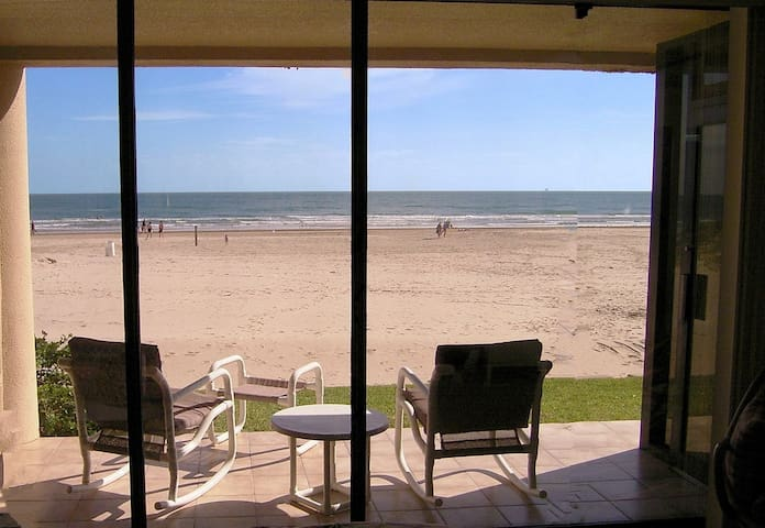 View From Master Bedroom to Patio and Beach/Ocean