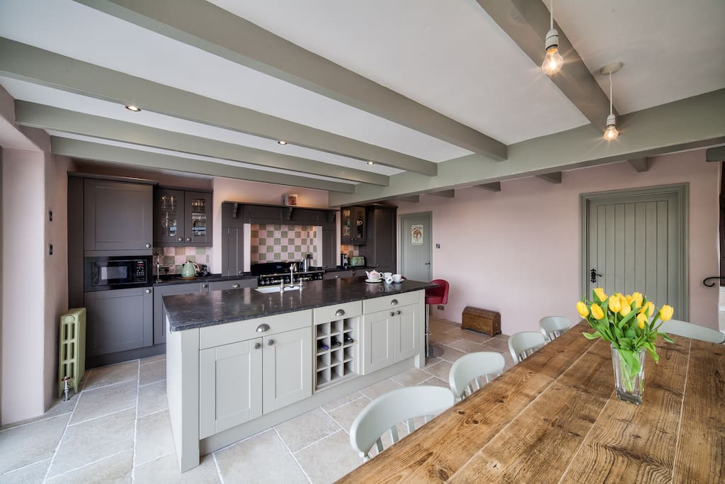 Kitchen seats ten - ideal for families and groups of friends