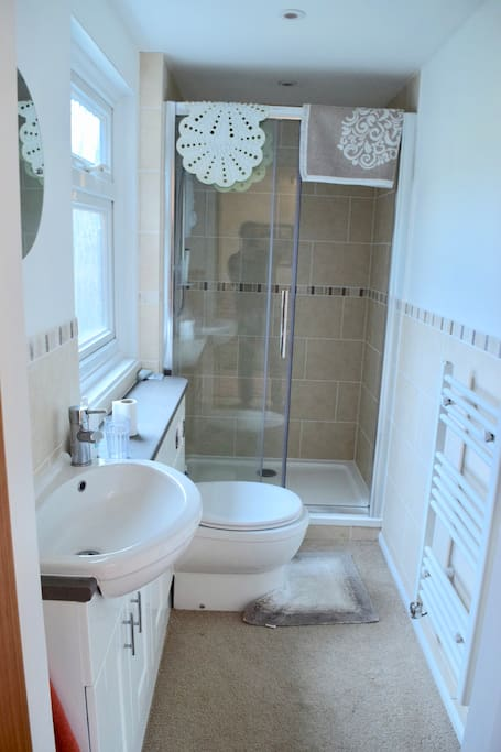 Ensuite shower and toilet facilities.
