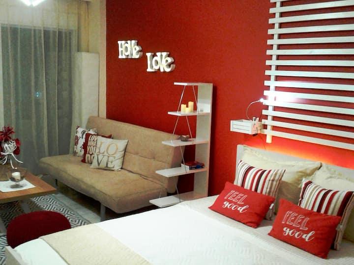 Seaview cozy studio near center&beach,free parking