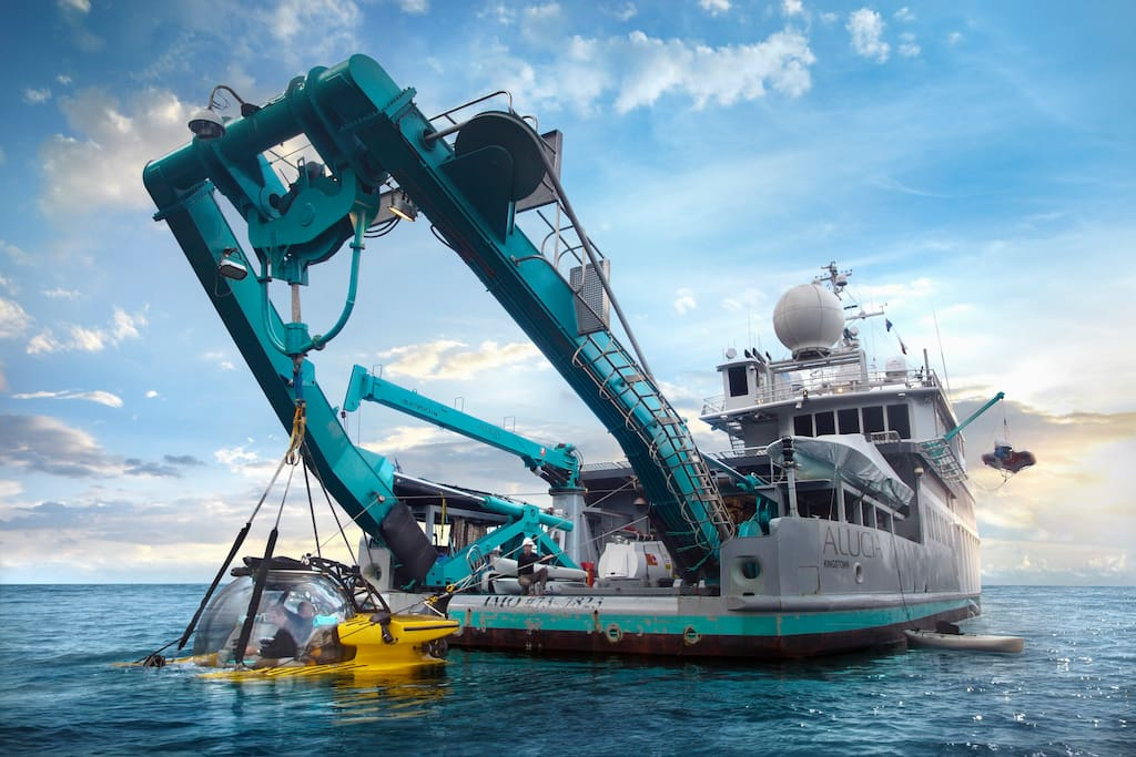 The Alucia, a world-class marine research exploration vessel, will be your home for two nights and three days of discovery. Photo © 2017 Alucia Productions