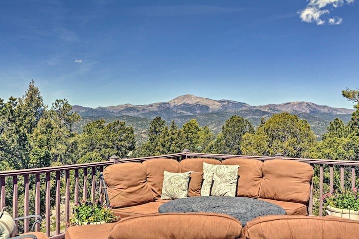 Large Ruidoso Home w/Stunning Views & Hot Tub