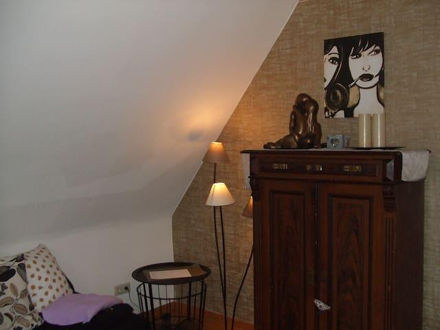 Wohnzimmer Apartment RheinBurgenWeg