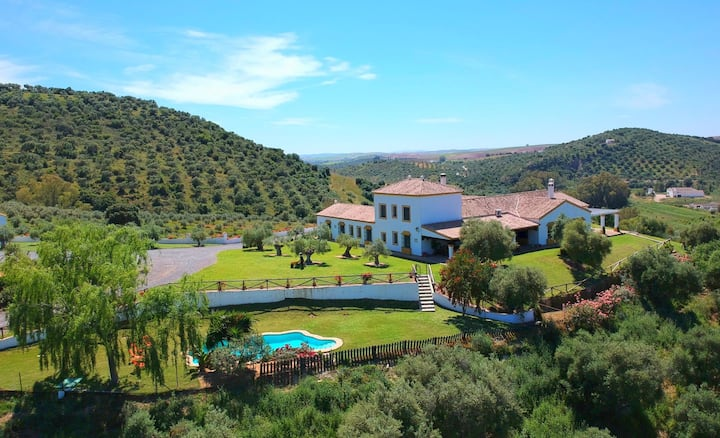 Luxury large villa, near Seville and Ronda, 14-22p