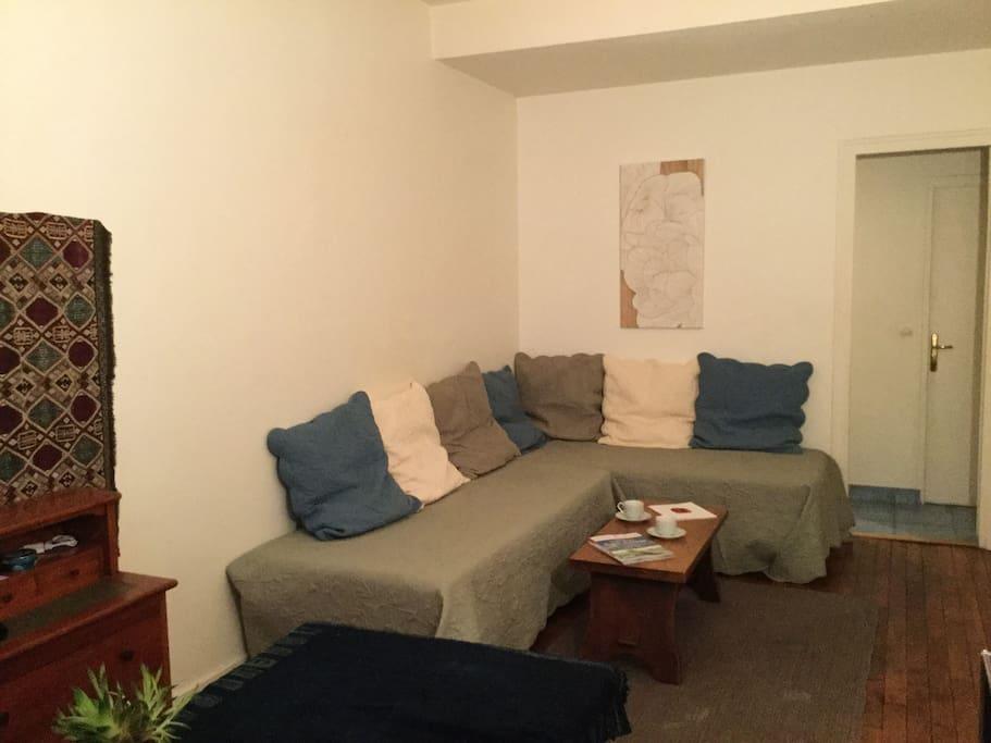 Pièce à vivre de 18 m2 ( au fond accés Cuisine et Salle de bain)