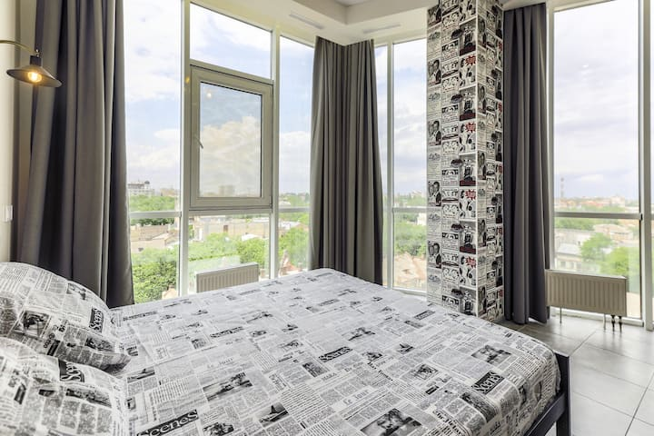 Modern apartment with panorama view! City centre!