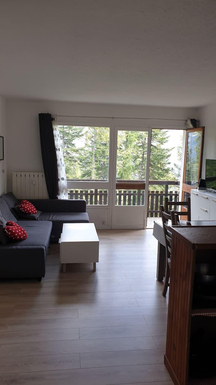 ⭐⭐⭐⭐ Praloup 1600 balcon vue magique sur forêt