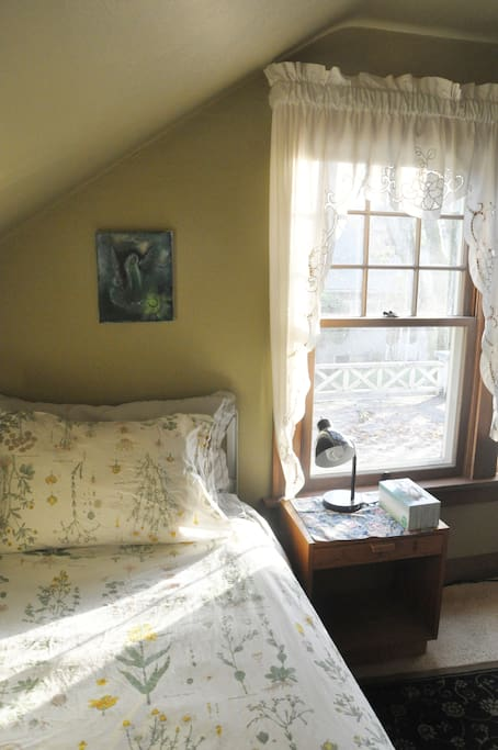 The upstairs bedroom