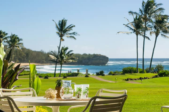 Poipu Sands 513: Oceanfront, Short Walk To Beach Get To Your Destination