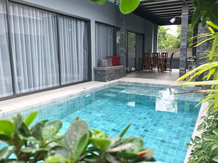 Sansanuk Pool Villa 2 beds, 250m to Maenam beach