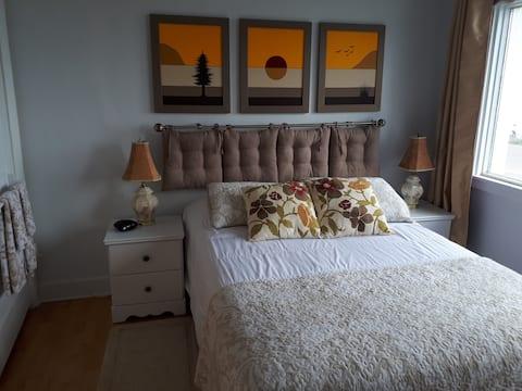 Gîte du Bon Vent - Chambre lit double vue sur mer