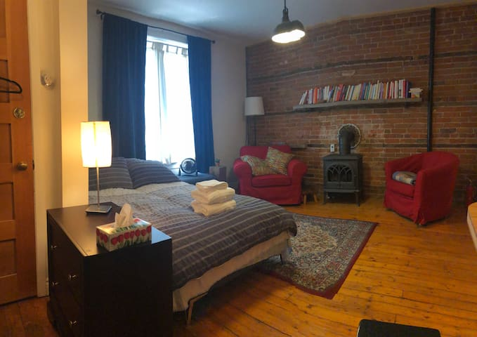 European-Style Suite, Downtown with Parking --