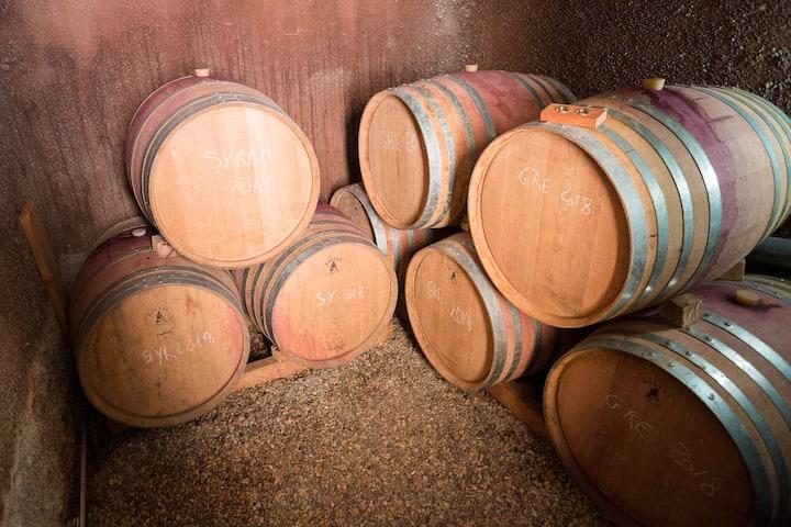 Our oak barrels Syrah