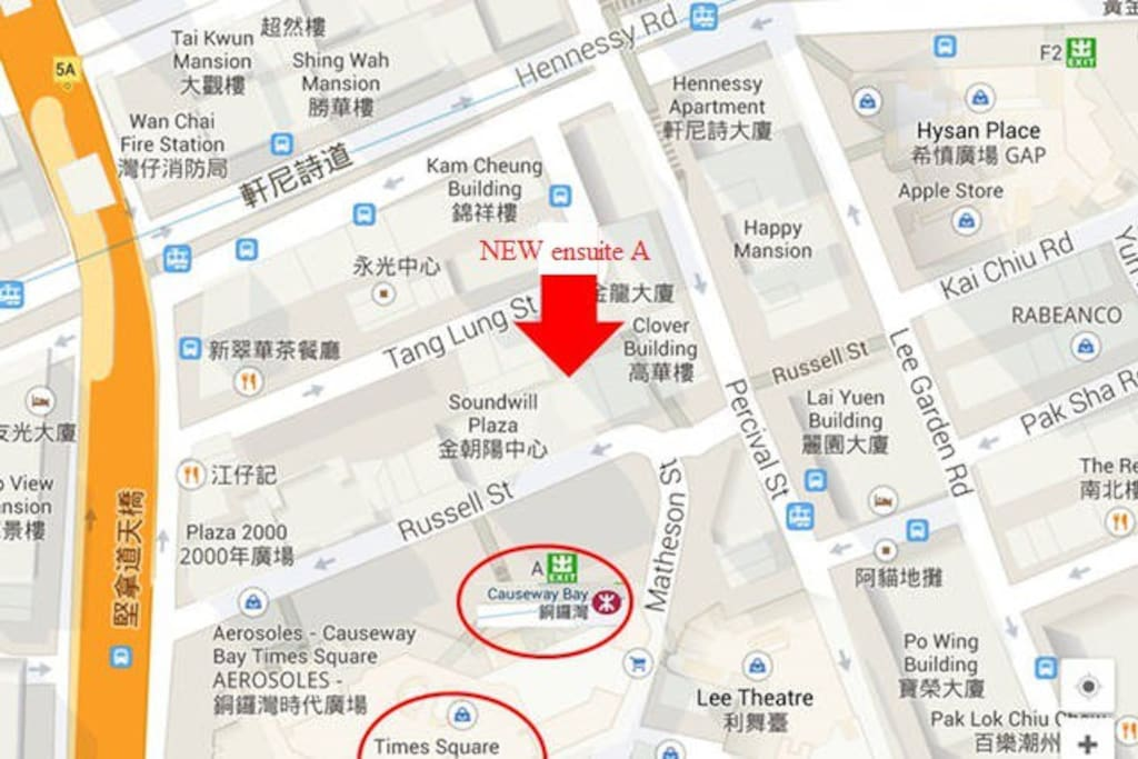Convenient: close to the MTR and Times Square