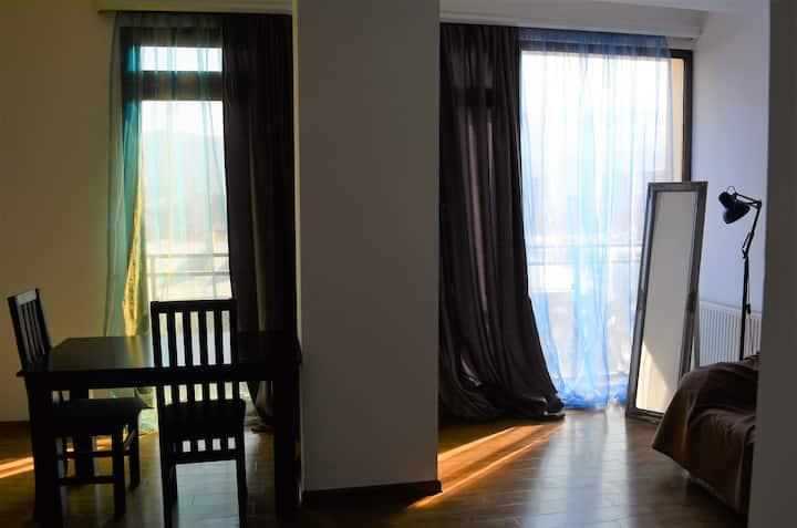White Studio Apartment, Tbilisi