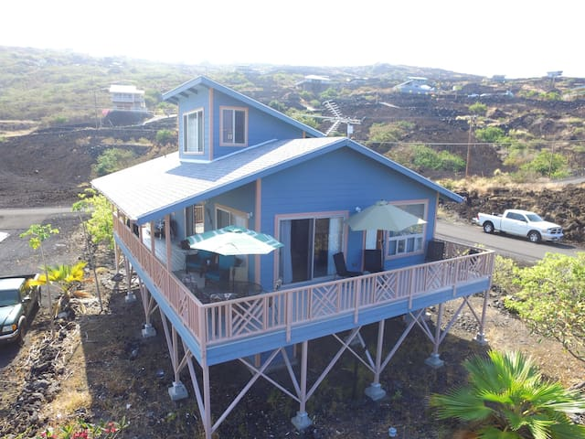 Blue House Full Deck View