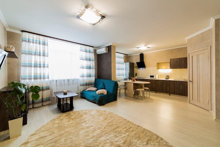 Apartment 4 minutes metro Osokorki, Adonis Clinic