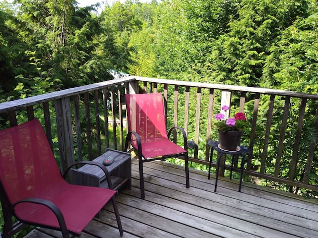 Back deck for morning coffee or evening stargazing.
